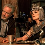 Ridley Scott and Sigourney Weaver on the set of Exodus: Gods and Kings